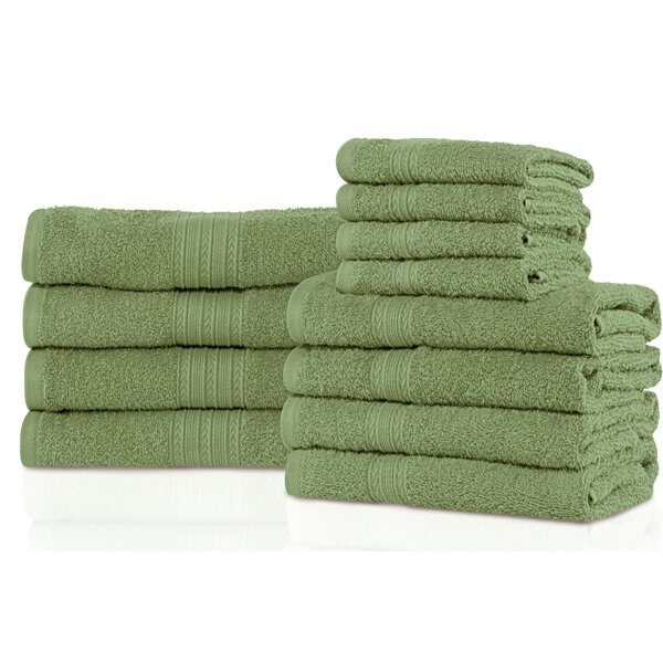 Patric 12 Piece 100% Cotton Towel Set by The Twillery Co.